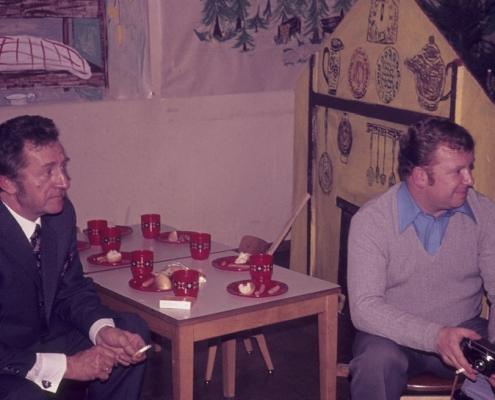 Weihnachtsfeier: Gerhard Schäfer & Fred Lehmann