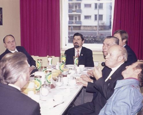 Frühstück in Wolfsburg: Klaus Liesecke, Klaus Braschoß, Heinrich Germelmann & Robert Winkelmann