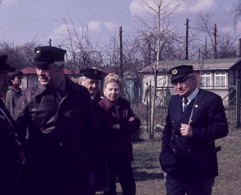 Bootstaufe: Horst Lechner, Manfred Gasse, Erwin Uhse, Jenny Schindler & Bernhard Nölte