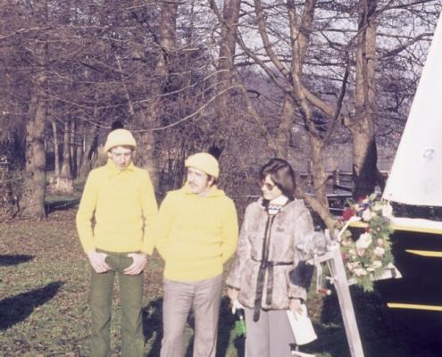 Bootstaufe Schwertzugvogel: Ralf, Bernd & Monika Rothermund