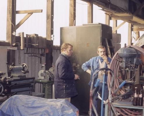 Werkstattecke: Fred Lehmann & Helmut Grünberg