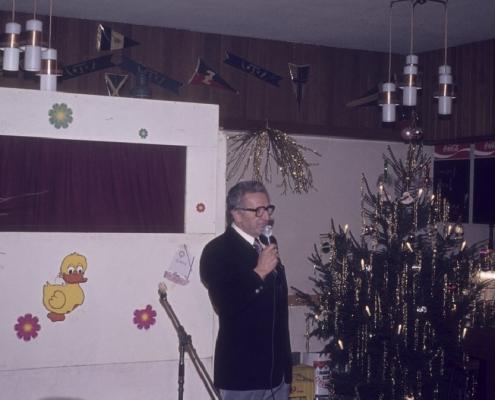 Weihnachtsfeier: Gerhard Schäfer