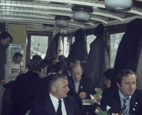 Bußtag Dampferfahrt: mitte: Heinz Boss, Paul Kahlert & Achim Schönfelder