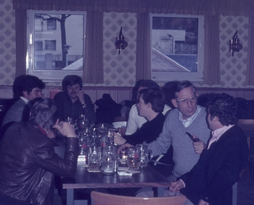 Bußtag Fahrt zum Wannsee: rechts: Martin Hinze