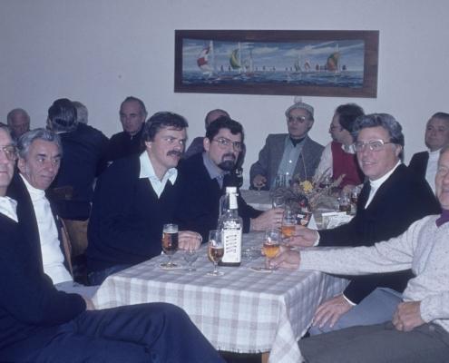Bußtag: am Tisch: Dietrich Balzer, Hermann Wollinger, Wolf-Dieter Kunze, Klaus Braschoß, Werner Kunze & Egon Jagsch