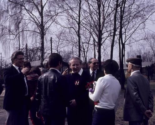 Bootstaufe Dieter Nerlich: Werner Kunze, Peter Germelmann, Dieter und Christel Nerlich