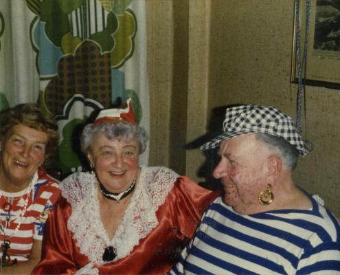 Fasching mit Gerda Schäfer, Hilde und Kurt Richter