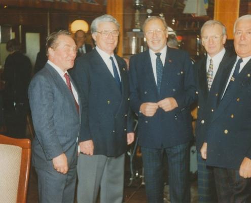 Jubiläumsempfang 75 Jahre SC Nordstern (Harry Dieter, Werner Kunze, Godidek, Goebel (von li. nach re.))