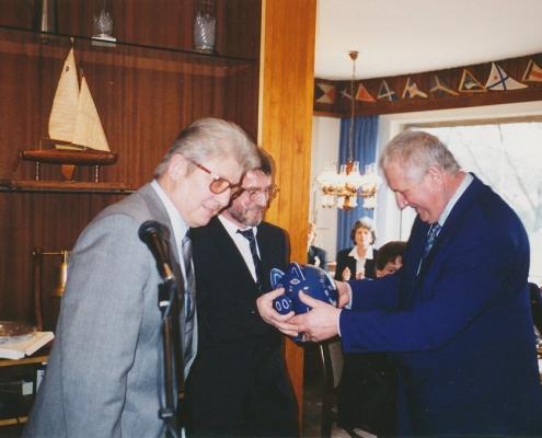 Jubiläumsempfang 75 Jahre SC Nordstern (H. Janis (Neuruppin), Manfred Richter, Dr. B. Steinberg)
