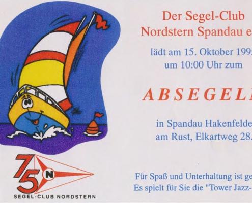 Einladung zum Absegeln am 15.10.1995