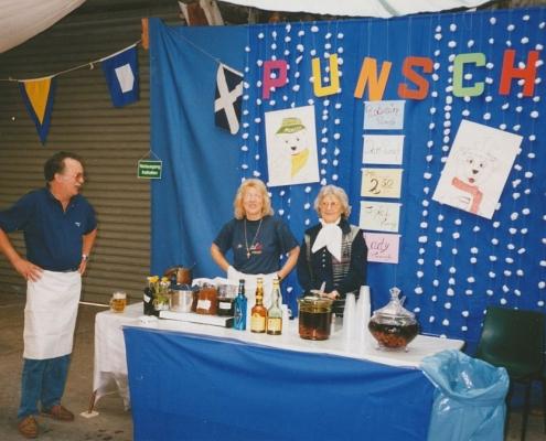 Absegeln 15.10.1995 (Peter, & Evi Beeskow, Oma Ulla (von li. nach re.))