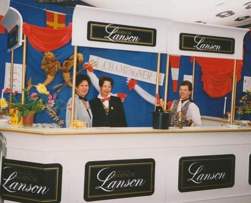 Absegeln 15.10.1995 (Christel Nerlich, Regina Barth und Stefan Braschoß (von li. nach re.))
