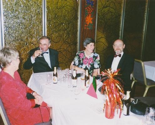 Jubiläumsball 04.11.1995 (Klaus & Marion Martini (SKT), Manfred Schröter, Karl-Heinz & Heike Draheim)