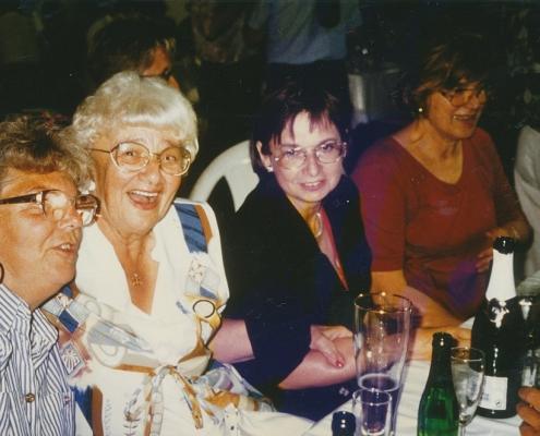 Stiftungsfest 05.08.1995 (Hilde & Hilde, Evelyn Richter, Waltraud König)