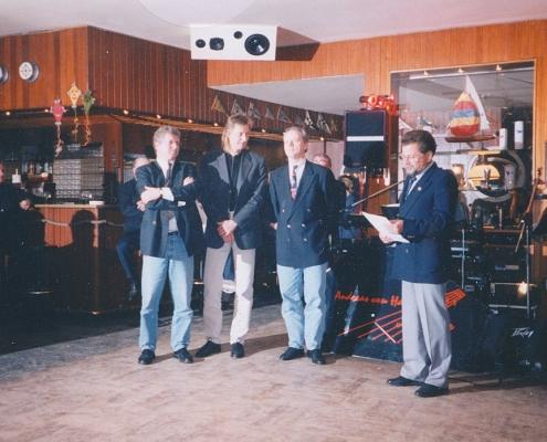 Vizemeisterehrung im Herbst (Michael Schnupp, Matthias Schönfelder, W.-D. Kunze und H.-J. Saegert (von li. nach re.)