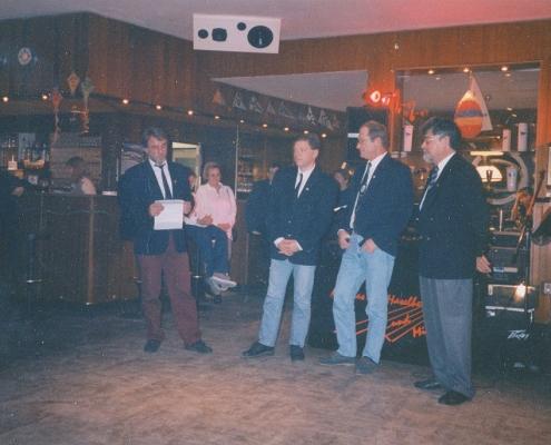 M. Richter, Stefan B., Klaus Krüger und Klaus Braschoß (von li. nach re.)