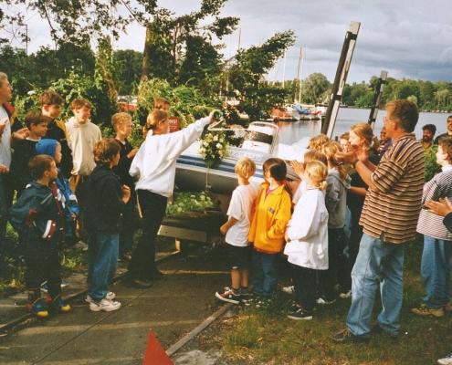 """Taufe von Jugendtrainerboot """"Jumbo"""""""